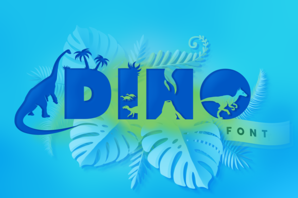 Print on Demand: Dino Display Font By Anastasia Feya