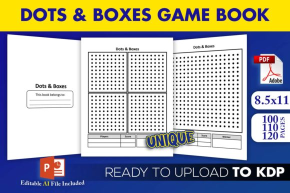 Print on Demand: Dots and Boxes Game Book | KDP Interior Graphic KDP Interiors By Beast Designer