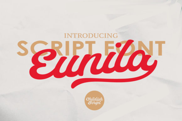 Print on Demand: Eunila Script & Handwritten Font By Temp here