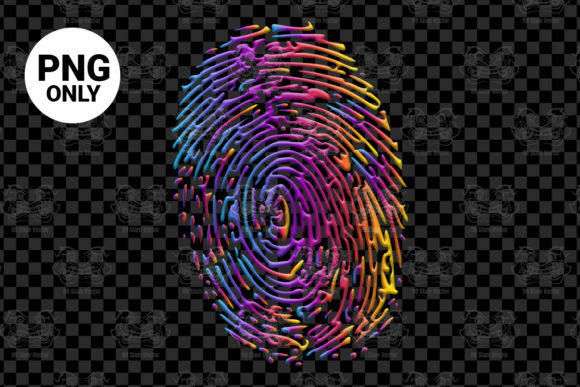 Print on Demand: Fingerprint for Sublimation Graphic Print Templates By 99 Siam Vector