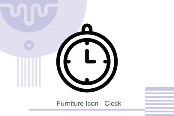 Furniture Icon - Clock Graphic Icons By MelindAgency