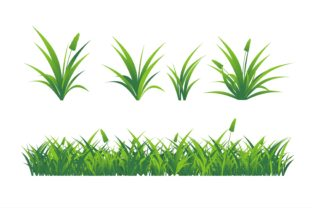 Print on Demand: Grass Nature Green Graphic Illustrations By edywiyonopp