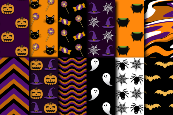 Print on Demand: Halloween Digital Patterns Vol. 02 Graphic Patterns By La Oliveira - Image 2