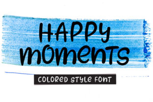 Print on Demand: Happy Moments Display Font By K_IN Studio