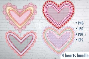 Print on Demand: Hearts Clip Art Graphic Crafts By PrettyDD