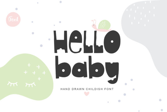 Print on Demand: Hello Baby Display Font By Happy Letters