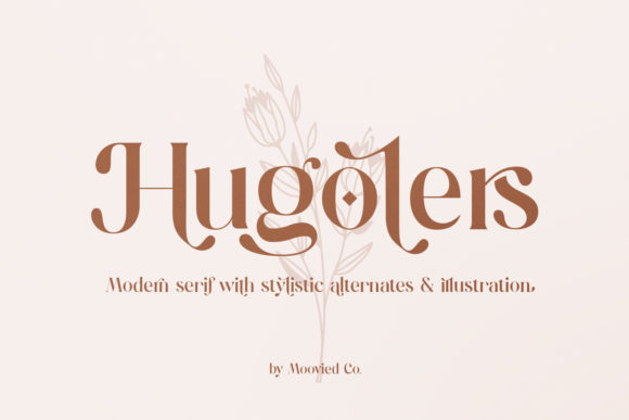Print on Demand: Hugolers Serif Font By Temp here