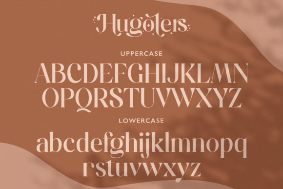 Print on Demand: Hugolers Serif Font By Temp here - Image 3