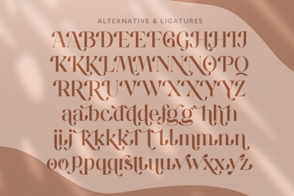 Print on Demand: Hugolers Serif Font By Temp here - Image 5