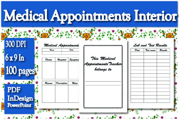 Print on Demand: KDP Medical Appointments Interior Graphic KDP Interiors By Ivana Prue
