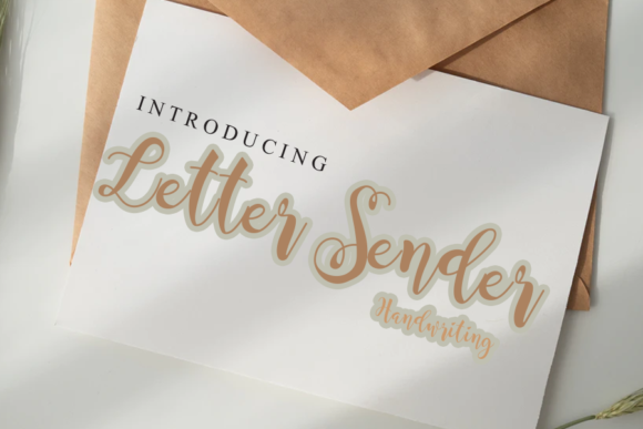 Print on Demand: Letter Sender Script & Handwritten Font By gunawanletter