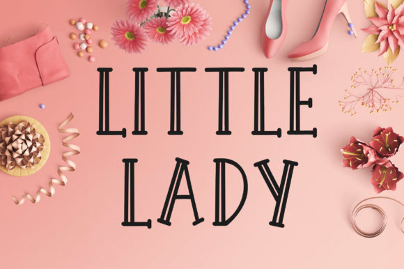 Print on Demand: Little Lady Display Font By PearlyDaisy