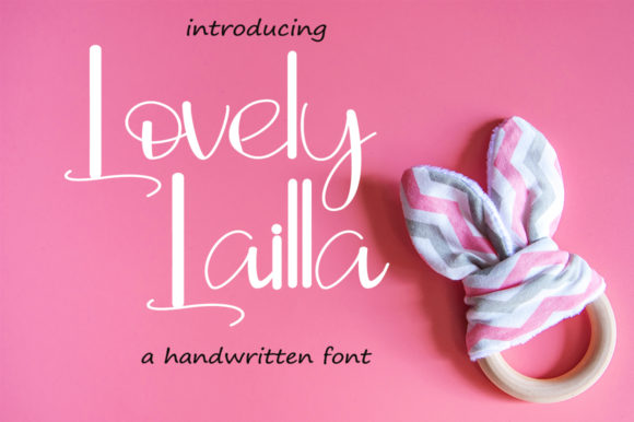 Print on Demand: Lovely Lailla Script & Handwritten Font By Fillo Graphic
