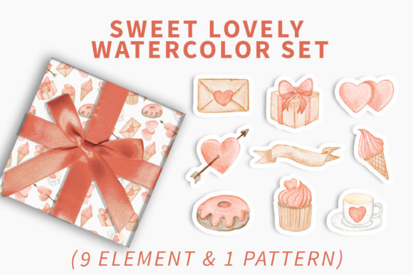 Print on Demand: Lovely Sweet Watercolor Clipart Graphic Illustrations By OrchidArt