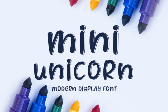 Print on Demand: Mini Unicorn Display Font By K_IN Studio