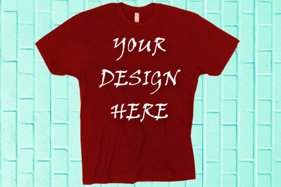 Mockup Red T-shirt Graphic Product Mockups By ArtStudio