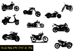 Motorcycle Silhouette Graphic Crafts By denysdigitalshop