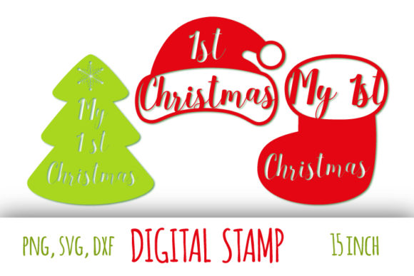 Print on Demand: My 1st Christmas Graphic Crafts By bunart