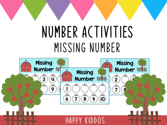 Number Activities  Missing Number Graphic K By Happy Kiddos