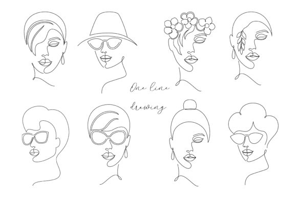 One Line Drawing. Graphic Illustrations By fatamorganaoptic