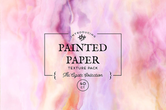 Print on Demand: Painted Paper Texture Agate Collection Graphic Textures By ameyamathur