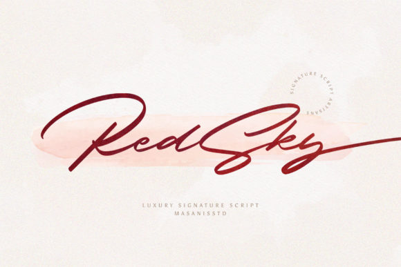 Print on Demand: RedSky Script & Handwritten Font By Mas Anis