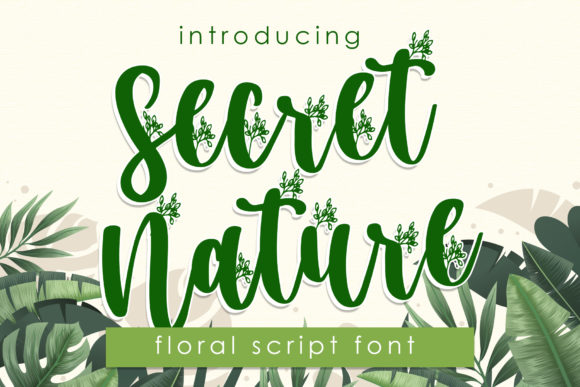 Print on Demand: Secret Nature Script & Handwritten Font By dmletter31