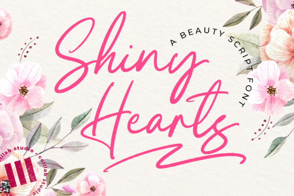 Print on Demand: Shiny Hearts Script & Handwritten Font By colllabstudio
