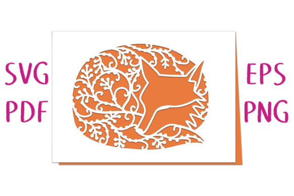 Print on Demand: Sleeping Fox Greetings Card Graphic 3D SVG By Nic Squirrell