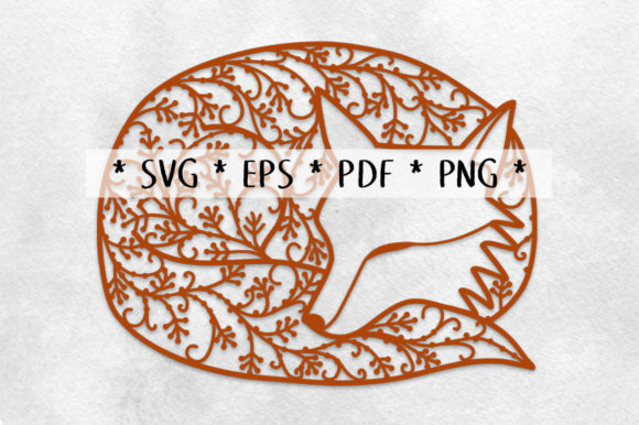 Print on Demand: Sleeping Fox Papercut Graphic Crafts By Nic Squirrell - Image 2