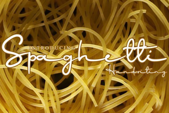 Print on Demand: Spaghetti Script & Handwritten Font By gunawanletter