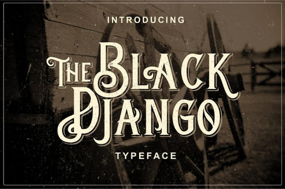 Print on Demand: The Black Django Display Font By ameyamathur