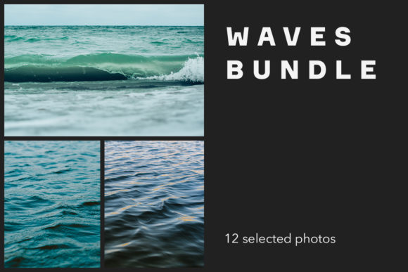 Print on Demand: Waves Bundle Graphic Nature By frostroomhead