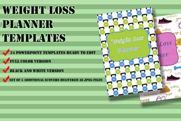 Print on Demand: Weight Loss Planner Templates for KDP Graphic KDP Interiors By Me610520