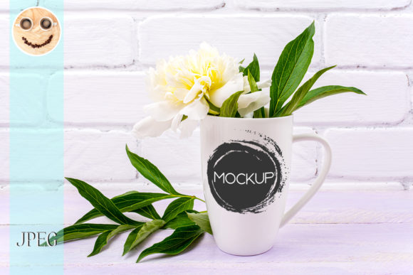 Print on Demand: White Coffee Cappuccino Mug Mockup Graphic Product Mockups By TasiPas