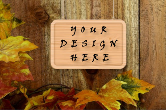 Wood Sign Mockup, Autumn Background Graphic Product Mockups By ArtStudio