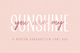 Print on Demand: You Are My Sunshine Script & Handwritten Font By BitongType