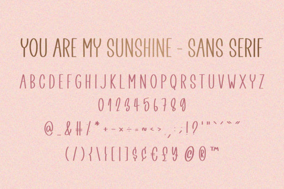 Print on Demand: You Are My Sunshine Script & Handwritten Font By BitongType - Image 9