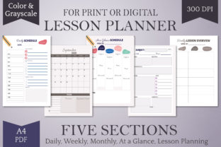 Print on Demand: 2020-2021 Homeschool Lesson Planner-A4 Graphic Print Templates By Digital Town