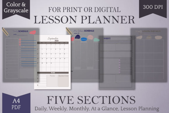 Print on Demand: 2020-2021 Homeschool Lesson Planner-Ltr Graphic Print Templates By Digital Town