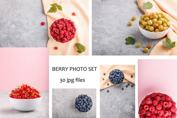 A Bundle of 30 Berry Photos Graphic Food & Drinks By Uladzimir Zgurski Photos