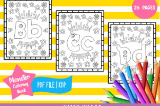 Alphabet Monster Coloring Book for Kids Graphic Coloring Pages & Books Kids By Happy Kiddos
