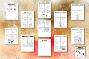 Print on Demand: Cute Cats Drawing Pages Graphic K By Janet's Cute Designs 2