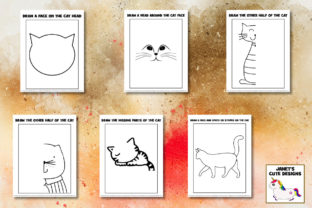 Print on Demand: Cute Cats Drawing Pages Graphic K By Janet's Cute Designs 3