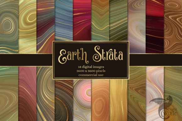 Earth Strata Agate Geode Textures Graphic
