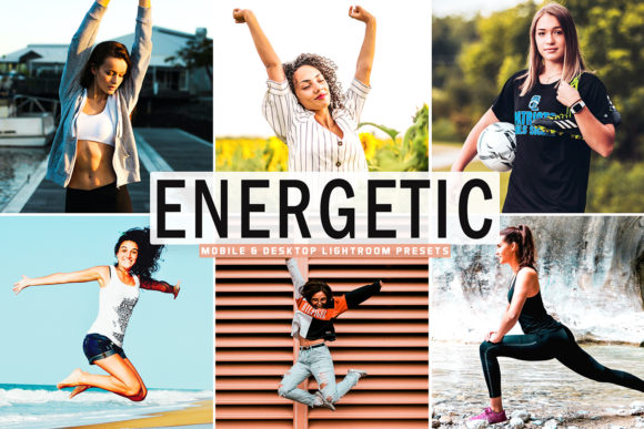 Print on Demand: Energetic Pro Lightroom Presets Graphic Actions & Presets By Creative Tacos