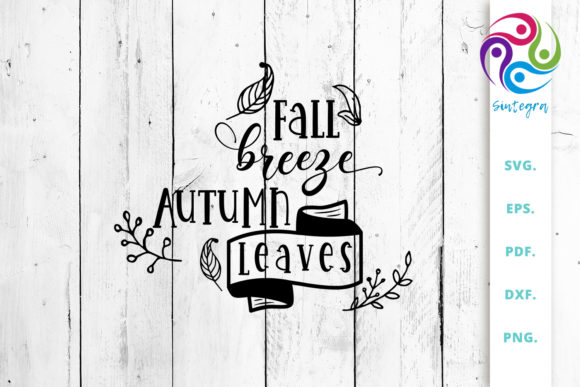 Print on Demand: Fall Breeze Autumn Leaves Svg Cut File Graphic Crafts By Sintegra