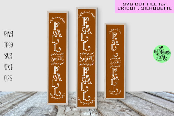 Fall Sweet Fall Porch Sign Graphic Objects By MidmagArt