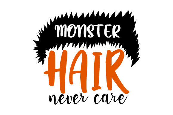 Print on Demand: Halloween Fall - Spooky Monster Hair Graphic Crafts By ShineGreenArt