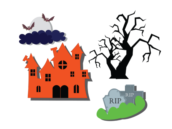 Halloween House Vector Graphic Illustrations By optimasipemetaanlokal